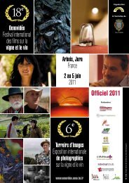 Officiel 2011 - Festival international de films sur la vigne et le vin ...