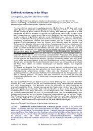 Stellungnahme - Pflegen mit Konzept - Stösser Standard