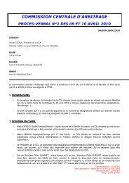 PV 2 - 9 et 10 avril 2010 - Extranet FFVB