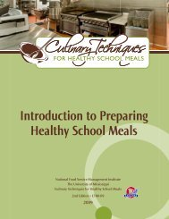 Introduction to Preparing Healthy School Meals - National Food ...
