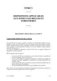 titre v dispositions applicables aux zones naturelles et forestieres