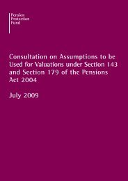 Consultation on Assumptions to be Used for Valuations under ...