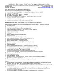 Residential submittal checklist - City of Sandusky