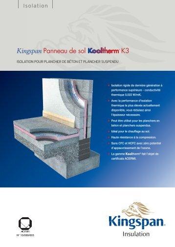 Kingspan Panneau de sol K3 - untec