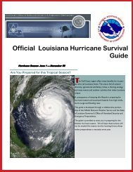 Official Louisiana Hurricane Survival Guide T - LSU Health Sciences ...