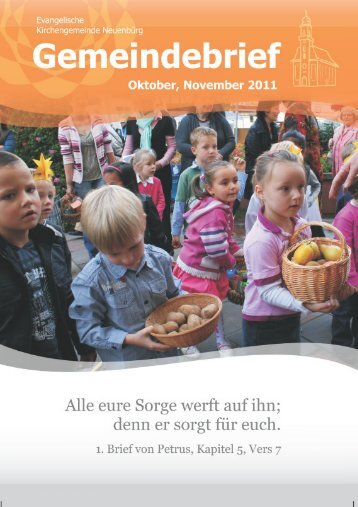 Unser Gemeindebrief Oktober - November 2011 - Evangelische ...