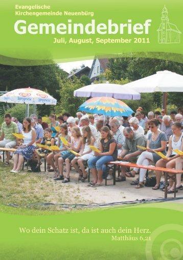 Unser Gemeindebrief Juli - September 2011 - Evangelische ...