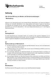 1/10/I - Marktsatzung - Bischofswerda