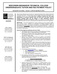 WITC's TUITION AND FEE PAYMENT POLICY - Wisconsin ...
