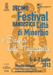 10° Festival bandistico e Sagra della tagliatella - Comune di Minerbio