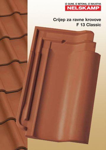 Crijep za ravne krovove F 13 Classic - Nelskamp