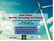 Solar Energy - American-Turkish Council