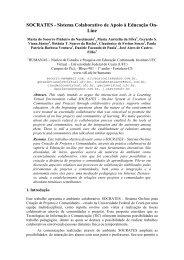 SOCRATES - Sistema Colaborativo de Apoio à Educação On- Line