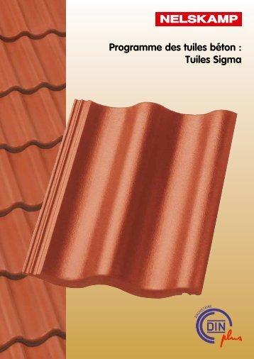 Programme des tuiles béton : Tuiles Sigma - Nelskamp