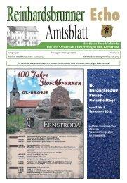 Stadt Friedrichroda mit den Ortsteilen Finsterbergen und Ernstroda
