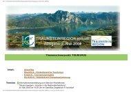Themenschwerpunkt: TOURISMUS - Traunsteinregion