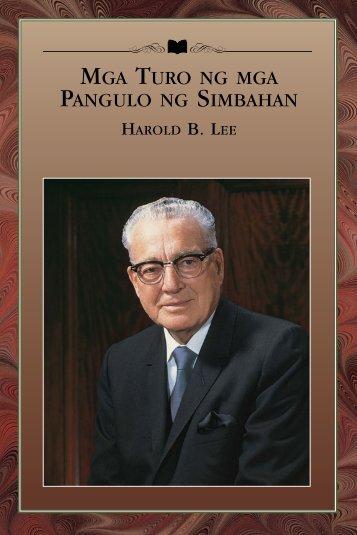 MGA TURO NG MGA PANGULO NG SIMBAHAN HAROLD B. LEE