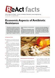 Economic Aspects of Antibiotic Resistance - ReAct
