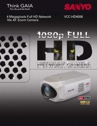 VCC-HD4000 4 Megapixels Full HD Network 10x AF Zoom Camera