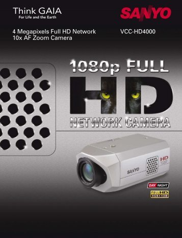 VCC-HD4000 4 Megapixels Full HD Network 10x AF Zoom Camera