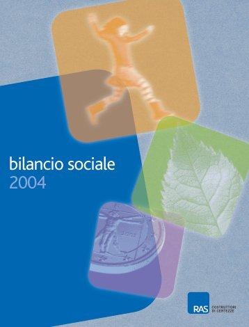 Pdf Bilancio Sociale 2004 - Allianz-RAS