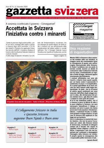 Accettata in Svizzera l'iniziativa contro i minareti - Gazzetta Svizzera
