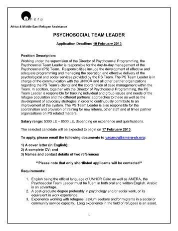 Job Description  Mental Health And Psychosocial Support Network?qualityu003d85