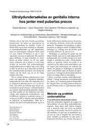 Ultralydundersøkelse av genitalia interna hos jenter med pubertas ...