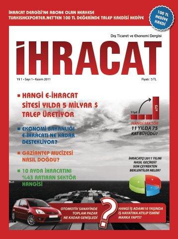 e-ihracat - İhracat | Dış Ticaret ve Ekonomi Sitesi