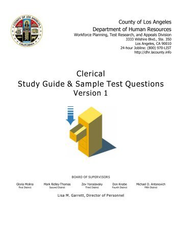 Clerical test civil service test study guide book.