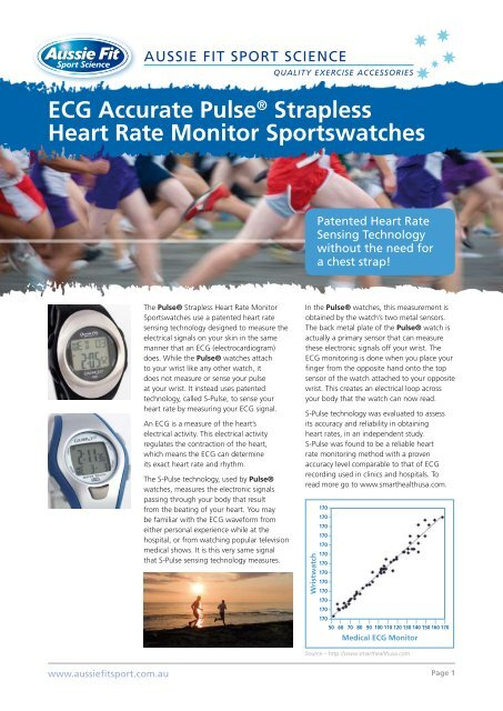 ECG Accurate Pulse® Strapless Heart Rate Monitor