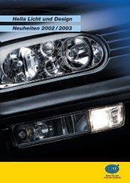 Hella Licht und Design Neuheiten 2002 / 2003