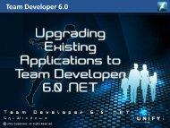 Team Developer 6.0 Products - TD Community