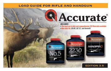 LOAD GUIDE FOR RIFLE AND HANDGUN - Accurate Powders