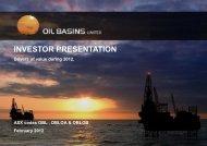 February Investor Presentation - Oil Basins Limited