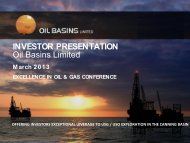 Excellence in Oil & Gas - Oil Basins Limited