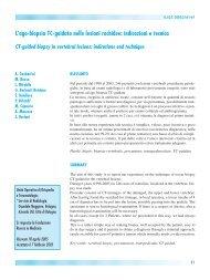 L'ago-biopsia TC-guidata nelle lesioni rachidee: indicazioni e tecnica
