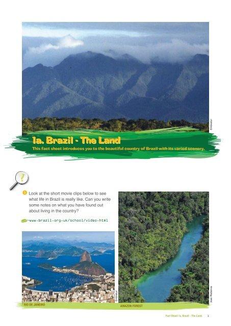 Fact sheet 1a - Brazil: The Land