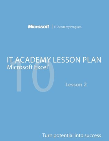 10IT ACADEMY LESSON PLAN