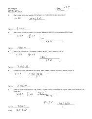 Worksheet Answers