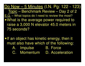 2014-01-22 -Benchmark Review - Day 2 of 2 - CW