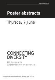 Poster abstracts CONNECTING DIVERSITY