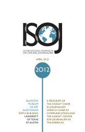 table of contents - International Symposium on Online Journalism ...