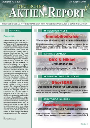 ShortDAX - Deutscher Aktien-Report