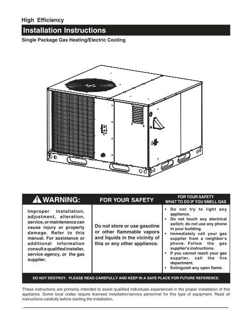 Nordyne Package Unit Wiring Diagram
