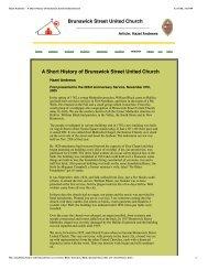 Hazel Andrews - A Short History of Brunswick Street United Church