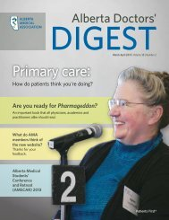 March/April 2013 - Number 2 - Alberta Medical Association