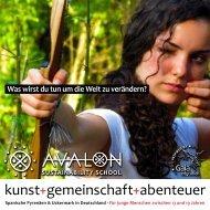 kunst+gemeinschaft+abenteuer - AVALON Sustainability School