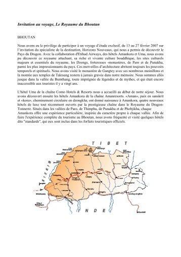 d'infos sur le Bhoutan - Delta Voyages