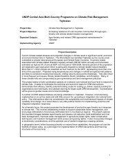 Project document - UNDP in Tajikistan